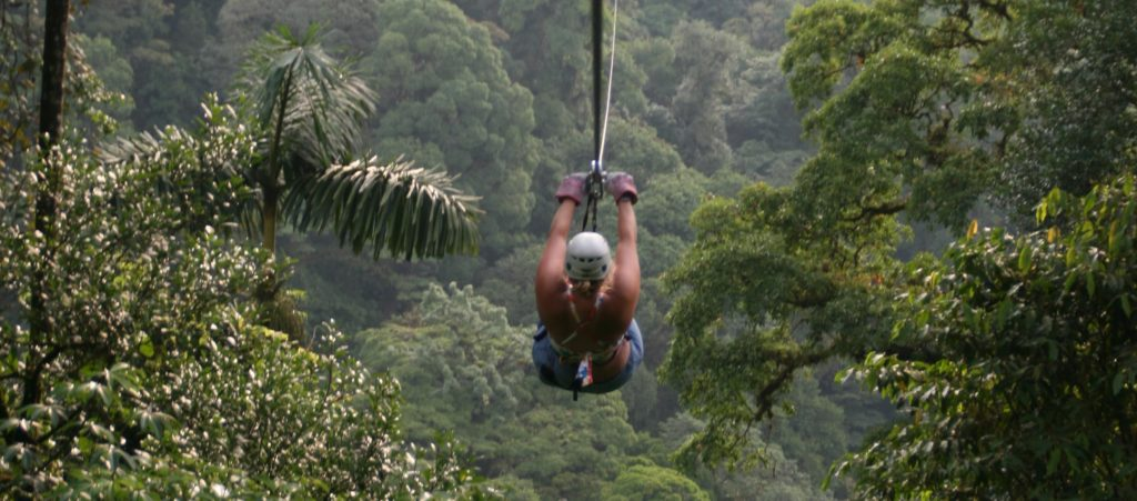 Zip-line above the canopy